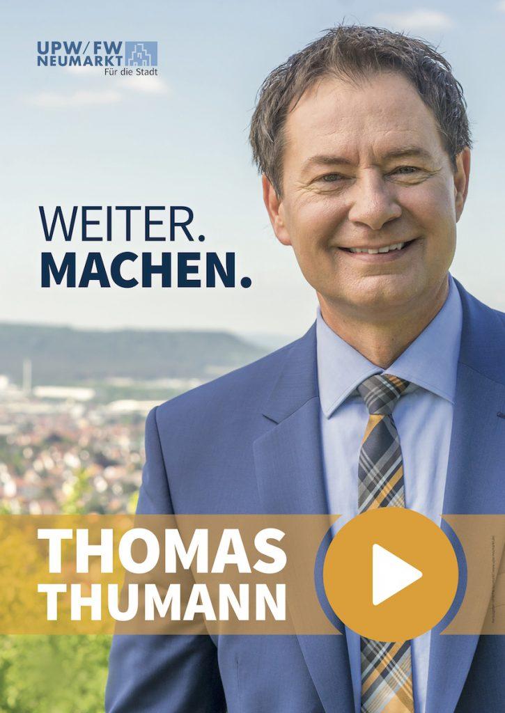 Neumarkter OB Thomas Thumann stellt sich der Wiederwahl am 24. September 2017